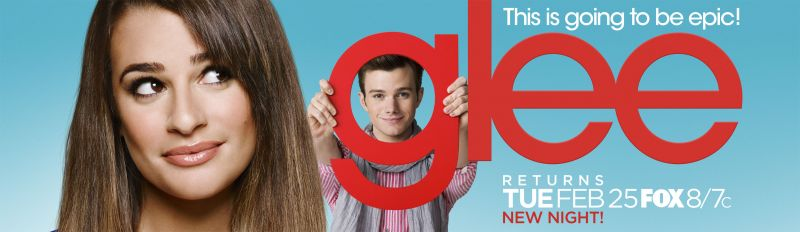 GLEE's 'Epic' Midseason Poster Unveiled, With Lea Michele & Chris Colfer