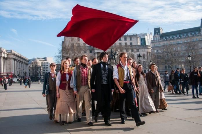 Flashy New LES MISERABLES UK Promotional Ad Filmed In Trafalgar Square