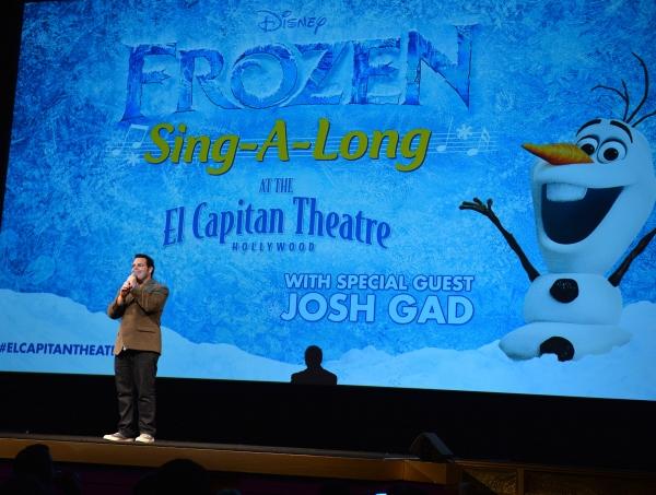 Photo Flash: Josh Gad Makes Appearance at FROZEN Sing-Along