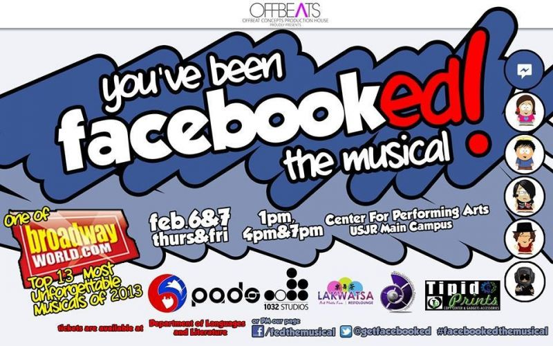 YOU'VE BEEN FACEBOOKED, A New Musical, Returns to Cebu, 2/6-7