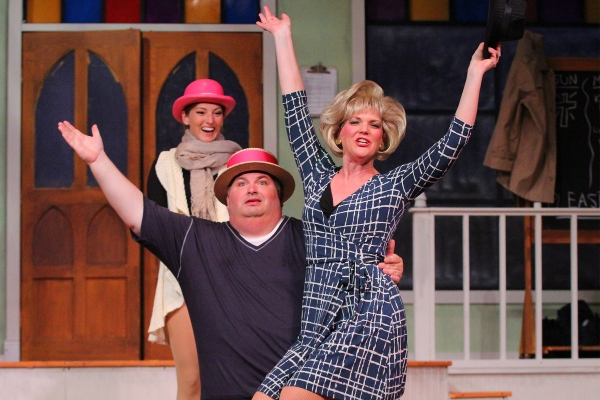 Claire Fallon as ''Andy,'' Johnathan Reed as ''Geoffery'' and Tracey Villager as ''Ma Photo
