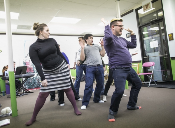 Photo Flash: In Rehearsal with Brown Paper Box's A NEW BRAIN
