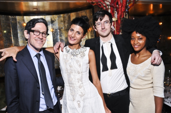 Randy Weiner, Giovanna Battaglia, and guests at Queen of the Night Photo