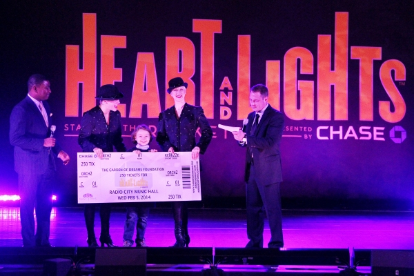 """�""""Heart and Lights"""" presenting sponsor, Chase, made a ticket donation of 250 tickets to the Garden of Dreams Foundation, a non-profit organization that works with all areas of the Madison Square Garden Company to make dreams come true for child"""