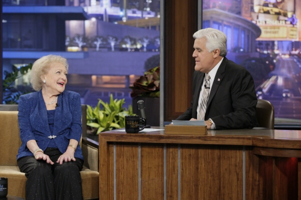 Betty White, Jay Leno