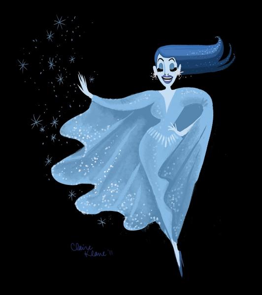 Photo Flash: Artist Claire Keane Imagines Bette Midler's 'Showgirl' as FROZEN's Snow Queen