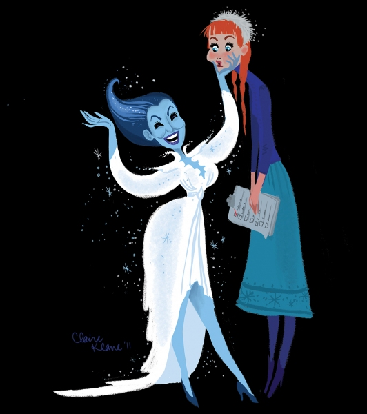 Photo Flash: Artist Claire Keane Imagines Bette Midler's 'Showgirl' as FROZEN's Snow Queen