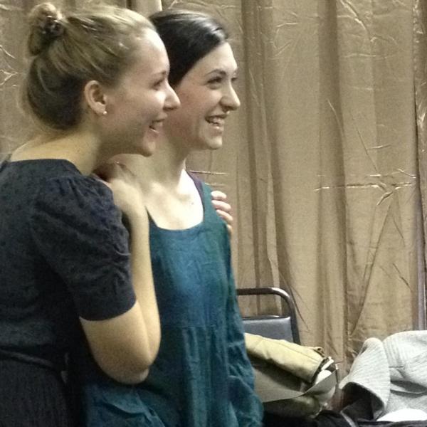 Sara Hymes (Marie) and Morgan DeTogne (Julie)