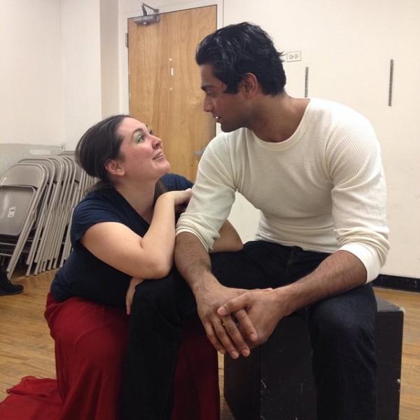 Kim Rogers (Mrs. Muskat) and Gerrard Lobo (Liliom)