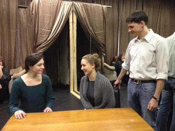 Morgan DeTogne (Julie), Sara Hymes (Marie) and Colin Fisher (Wolf)