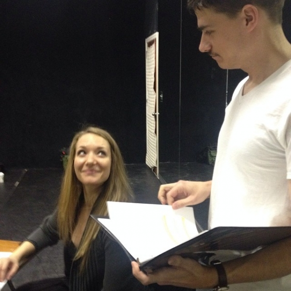Sara Hymes (Marie) and Colin Fisher (Wolf) Photo