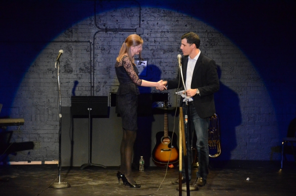 Winner of Best Song Madeline Myers (I Could Be a Hero) and Ken Davenport