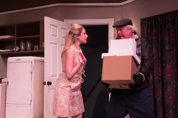 Jessica Alex and Jeff Savage as The Delivery Man