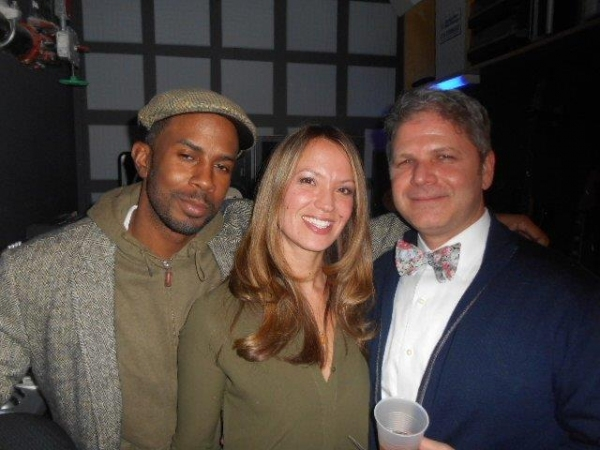 Kenneth Darpoh, Beth McNeill, gallery owner Michael Lyons Wier