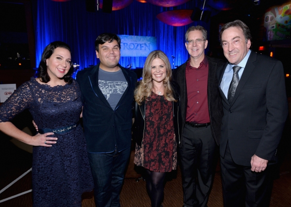 LOS ANGELES, CA - FEBRUARY 09: (L-R) Songwriters Kristen Anderson-Lopez and Robert Lopez, directors Jennifer Lee and Chris Buck and producer Peter Del Vecho attend The Celebration Of The Music Of Disney''s ''Frozen''. FOR THE FIRST TIME IN FOREVER, the mu