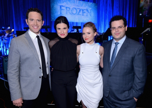 LOS ANGELES, CA - FEBRUARY 09:  (L-R) Actors Santino Fontana, Idina Menzel, Kristen Bell and Josh Gad attend The Celebration Of The Music Of Disney''s ''Frozen''. FOR THE FIRST TIME IN FOREVER, the music of Disney''s ï�¿½Frozenï�¿½ was celebrated with