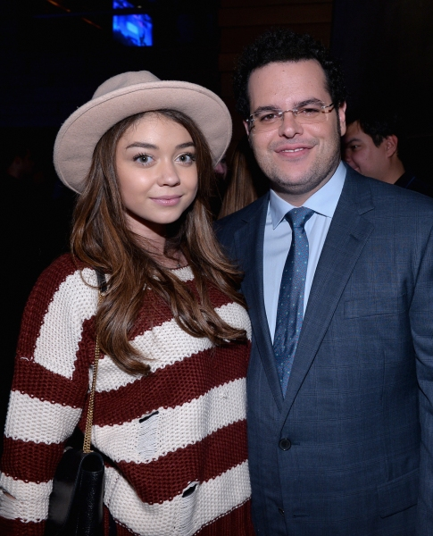 LOS ANGELES, CA - FEBRUARY 09:  Actress Sarah Hyland (L) and actor Josh Gad attend The Celebration Of The Music Of Disney''s ''Frozen''. FOR THE FIRST TIME IN FOREVER, the music of Disney''s ï�¿½Frozenï�¿½ was celebrated with live performances at Los
