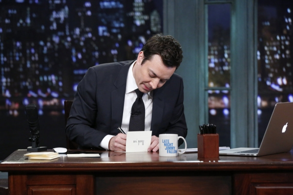 LATE NIGHT WITH JIMMY FALLON -- Episode 969 -- Pictured: Jimmy Fallon -- (Photo by: Lloyd Bishop/NBC)