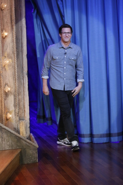 LATE NIGHT WITH JIMMY FALLON -- Episode 969 -- Pictured: Andy Samberg -- (Photo by: Lloyd Bishop/NBC)