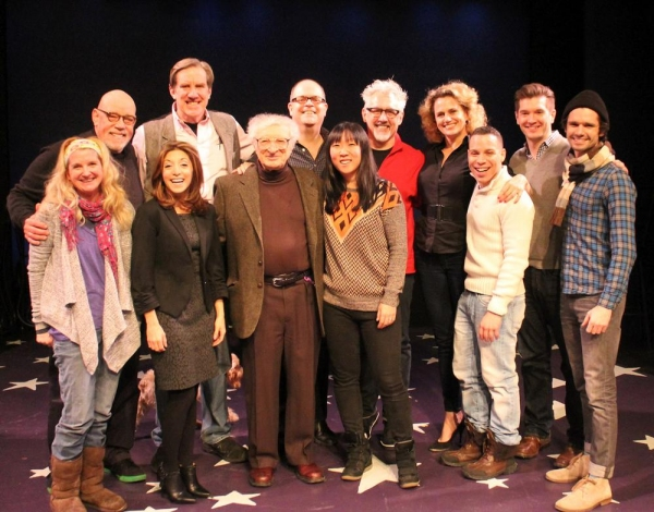 Megan Lawrence, Conrad John Schuck, Christina Bianco, Nick Wyman, Sheldon Harnick (composer), Brad Oscar, Amanda Morton (music director), David Glenn Armstrong (director), Cady Huffman, Robin de Jesús, David Avery and Robb Sapp
