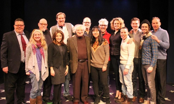 James Morgan (York Producing Artistic Director), Megan Lawrence, Conrad John Schuck, Christina Bianco, Nick Wyman, Sheldon Harnick (composer), Brad Oscar, Amanda Morton (music director), David Glenn Armstrong (director), Cady Huffman, Robin de Jesús, D