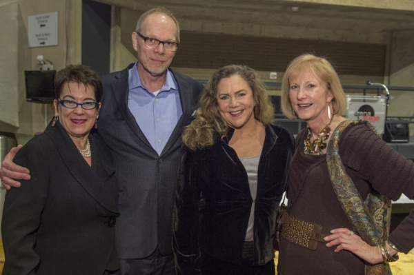 Artistic Director Molly Smith, Executive Producer Edgar Dobie, cast member Kathleen Turner and Lola Reinsch