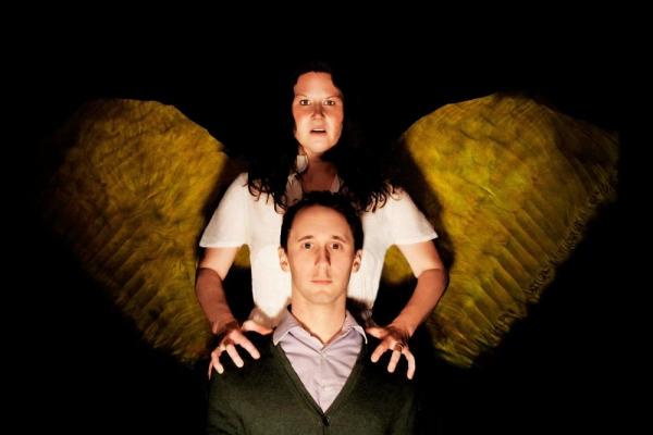 The Angel (Cara Trautman) looks over Louis (Matthew Turner Shelton) Photo