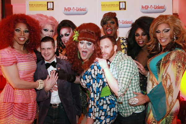 Blackie Onasty, Terra Grenade, Damon L. Jacobs (front), Sabel Scities, Honey LaBronx, Gary Weingarten, Bob TheDragQueen, Sir-Honey Davenport, and Brenda Dharling