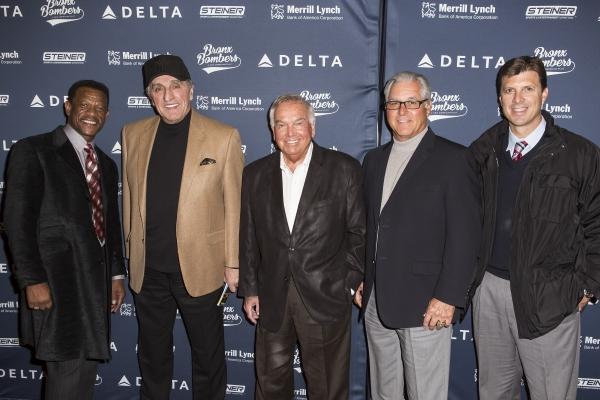 Photo Coverage: Yankees Alumni Visit BRONX BOMBERS on Broadway!