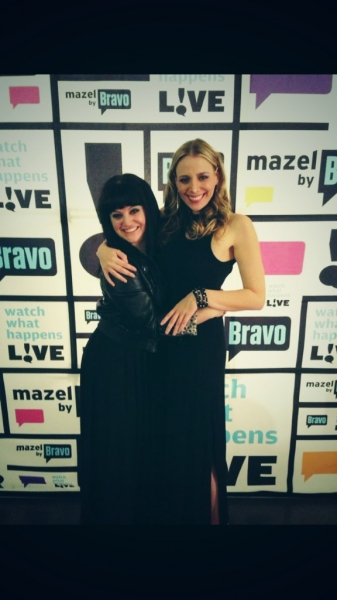 Stacey Oristano and I in Bravo Heaven. Photo