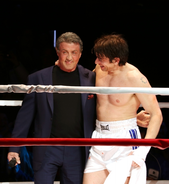 Sylvester Stallone gets back in the ring with Andy Karl