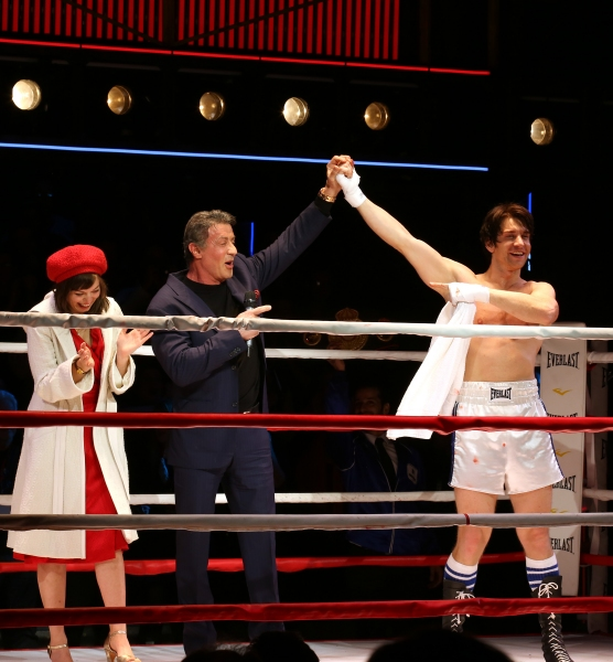 Sylvester Stallone gets back in the ring with Margo Seibert and Andy Karl