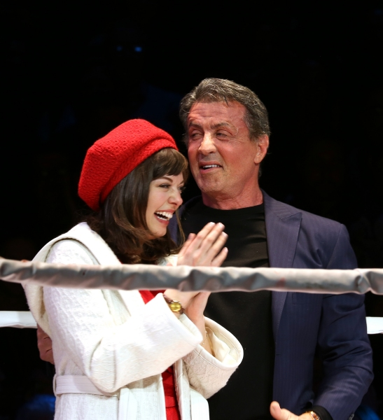 Sylvester Stallone gets back in the ring with Margo Seibert f