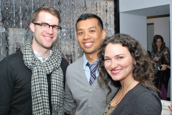 Sing for Hope Executive Director Bobby Kean and Art U! Coordinator Stephanie Martinez with Amadeus Lopez.