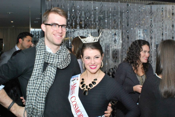 Sing for Hope Executive Director Bobby Kean with Miss Cosmopolitan Christina Moore.
