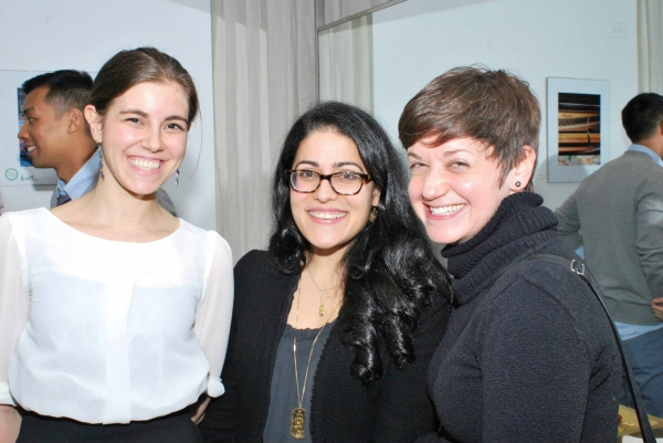 Sing for Hope Community Arts Coordinator Erin Breznitsky with Volunteer Artists Laura Photo
