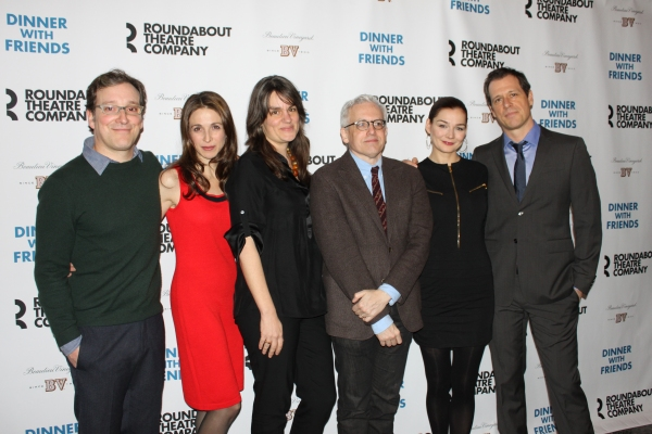Jeremy Shamos, Marin Hinkle, Heather Burns, playwright Donald Margulies, Heather Burns, Darren Pettie