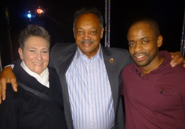 k.d. lang, Rev. Jesse Jackson and Dule Hill