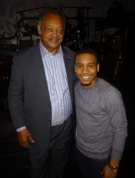 Photo Flash: Rev. Jesse Jackson Visits k.d. lang and Dule Hill at AFTER MIDNIGHT