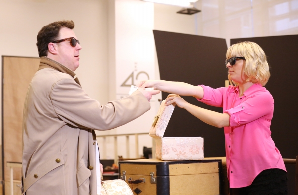 Photo Coverage: In Rehearsal with Zach Braff, Marin Mazzie & the Cast of BULLETS OVER BROADWAY!