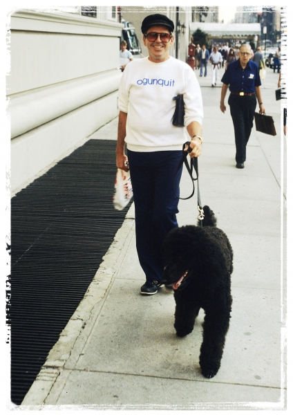 Paul Lynde and Alfred photographed walking down 5th Ave in New York City on September Photo