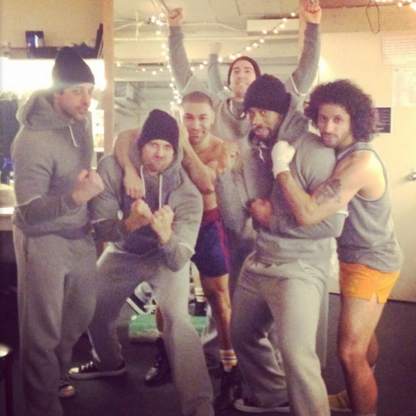 Photo Flash: Saturday Intermission Pics, Feb 15, Part 2 - ROCKY Gets Tough Backstage and More!