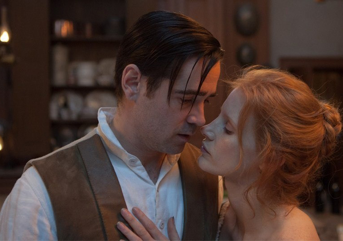 New Images Of Jessica Chastain & Colin Farrell In Liv Ullmann's MISS JULIE