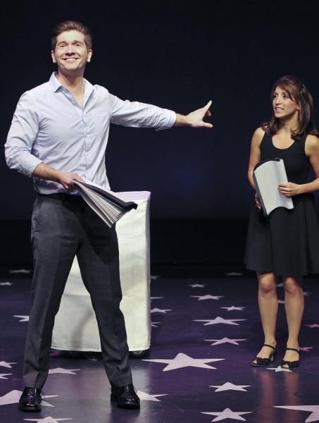 David Ayers as Leander and Christina Bianco as Lucinda Photo