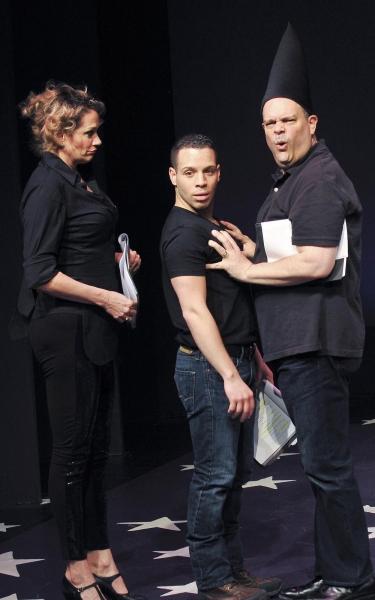 Cady Huffman, Robin de Jesús, and Brad Oscar