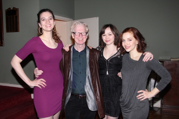 Pearl Rhein, Larry Kirwan, Emily Skeggs and Jessica Grove