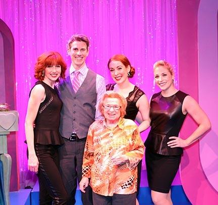 Erin Mcguire, John Thomas Fisher, Gretchen Wylder and Dana Wilson with Dr. Ruth Photo