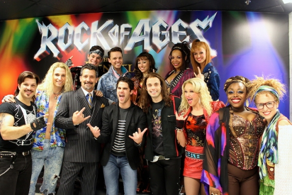 Photo Flash: Darren Criss Attends ROCK OF AGES in Vegas!