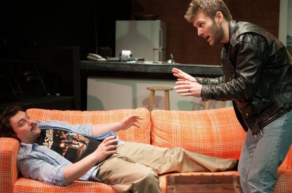 KIRK GOSTKOWSKI as Eddie and BRANDON SCOTT HUGHES as Phil