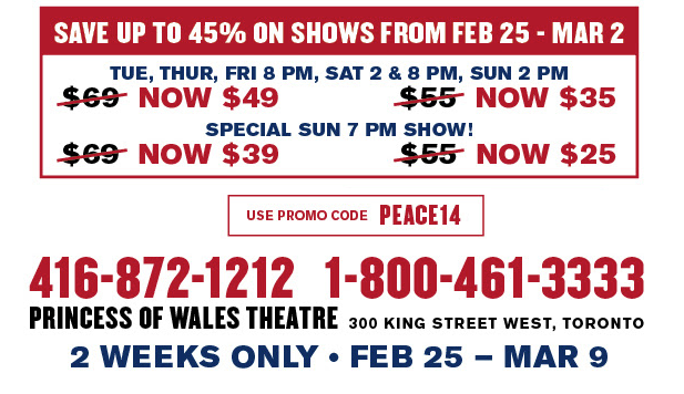 Discount Watch: Mirvish Offers Special Pricing on THE TWO WORLDS OF CHARLIE F
